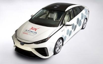 Toyota Menampilkan Kendaraan Penelitian Mirai-Base dengan Fungsi Satelit Komunikasi