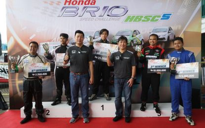 Enam Kali Berturut-Turut Juara, M.Arief Hidayat Puncaki Honda Brio Speed Challange 2017