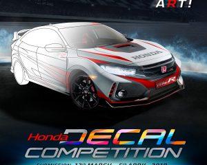 Honda Decal Competition Wadah Para Desainer Stiker Mobil