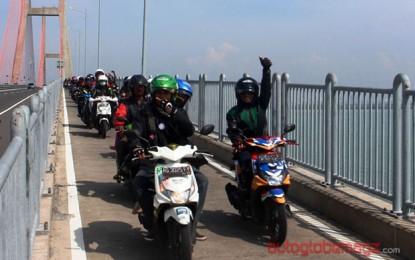 """Beat Bikers penuhi Jamnas """"Bersatu Hati di Surabaya"""" di Kota Surabaya"""