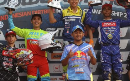 Yosua Pattipi Crosser Tim Corsa Optimis Puncaki Kejurnas Motocross Seri 4