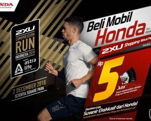 Hobi Lari Bisa Dapet Rejeki,Honda Kembali Dukung 2XU Compression Run Indonesia