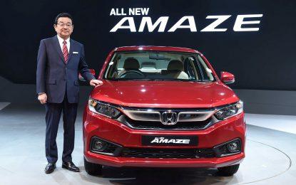 Untuk Pertama Kalinya di Dunia , Honda Amaze di Luncurkan di India