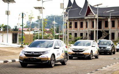Rombongan All New CR-V  Jelajah Nusantara Tiba di Kota Padang