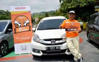 Pemenang Lomba Tes Irit Honda Mobilio Tes Irit Seri ke-3 Belum Pecahkan Rekor