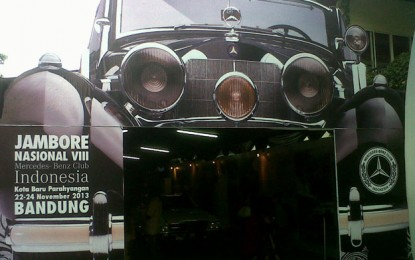 Hadiah 1 unit Mercy tarik perhatian peserta dan pengunjung Jamnas 8 Mercedez Benz Club Indonesia.