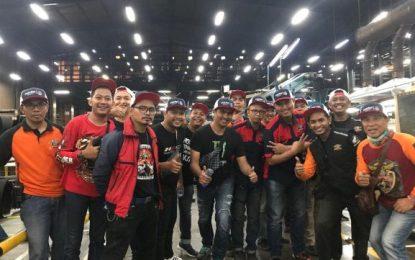 Komunitas Honda PCX Rame-Rame Kunjungi Pabrik Ban Corsa
