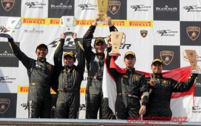 Pembalap Indonesia berhasil bersaing di Lamborghini Blancpain Super Trofeo Asia series 2014