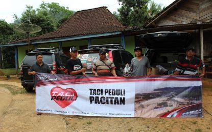 Tugas Mulia Tidak Mudah, Komunitas TACI Serahkan Donasi Korban Banjir di Pacitan